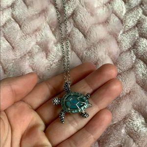 A sea turtle necklace